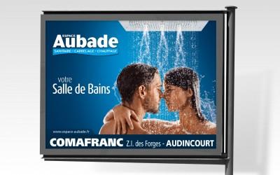 Affiche 4x3 longue durée sanitaire Aubade