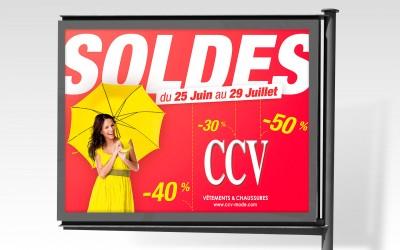 Affiche 4x3 les soldes CCV