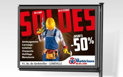Affiche 4x3 Soldes Les Matériaux