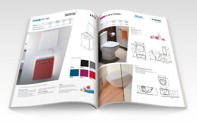 Double page catalogue Aubade Création