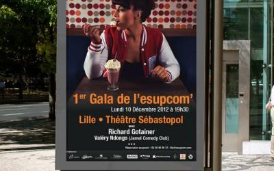 Affiche gala Esupcom avec Richard Gotainer