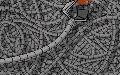 illustration robot grand bras automne et feuille