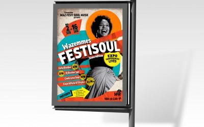 Abris bus festival soul funk Festisoul de la maison de Folie de Wazemmes
