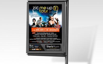 Abris bus de la tournée du Zicmeup Tour 2012