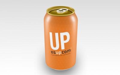 Mock-up cannette up, boisson énergétique