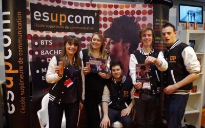 Les étudiants Esupcom au salon étudiant de Lille