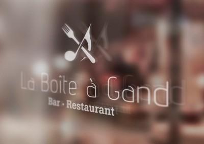 Identité de marque : Restaurant La Boîte à Gand