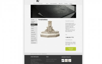 Page produit site internet rocdefrance.fr